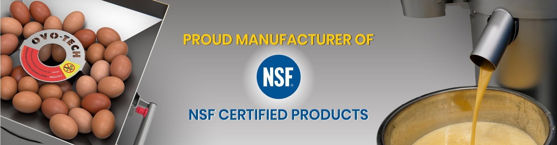NSF certified egg cracker