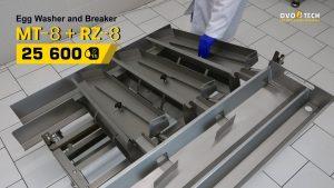 OVO-TECH RZ-8 egg breaker yolks and whites separator ramp