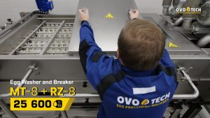 OVO-TECH employee and the MT-8 tunnel egg washer